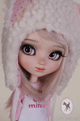 ~ Custom Pullip Aya for Dawn ~ (-Poison Girl-) Tags: bear new pink cute girl closeup dawn eyes aya doll soft dolls eyelashes teddy natural sweet makeup before lips planning jp groove