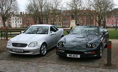 SLK - 1995 AC ACE 5.0 (shagracer) Tags: classic cars sports car mercedes automobile soft open top ace convertible german vehicle british 50 ac rag roadster slk drophead
