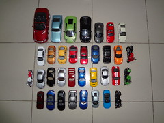 My Die-Cast Cars & Bikes Collection ~ (Top Aerial Overview) (  d   ) Tags: cars ford chevrolet sport skyline honda volkswagen mercedes benz eclipse italia nissan mark ninja 911 models beetle bikes evolution rover x spyder camaro sl 124 turbo porsche toyota land shelby motor cayman mustang gt audi hummer h2 rav4 corvette range lamborghini lancer 141 350z mitsubishi vii kawasaki a6 c6 132 carrera cycles 136 cbr 118 murcielago 134 r8 z06 slk 140 diecast r6 r34 138 maisto gt500 600rr 458 zx10r carbiolet kinsmart ttcoupe gallardolp5604 gtrr35