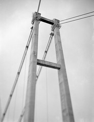 Of stays, cables & concrete (Dani Irwan) Tags: bridge blackandwhite bw blancoynegro monochrome analog concrete suspension noiretblanc swing malaysia 4x5 monorail rise tilt largeformat cablestayed sheetfilm aristaeduultra100 autaut tetenalultrafin110 horsemanl45