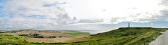Fields, sea and clouds seen from Cap Blanc-Nez, France (Johnny Cooman) Tags: escalles nordpasdecalais frankrijk fra capblancnez france canons5 landscape landschap lesdeuxcapes pasdecalais strand natuur beach cloudscapes wolk wolken wolkformaties wolkformatie pano panorama sea zee aaa nuages thegalaxy mer