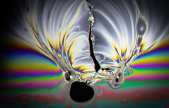 Soap Interference 4 (Mark H Svoboda) Tags: abstract macro up closeup canon lens weird soap slick cool rainbow pattern close mark unique rorschach bubbles bubble oil trippy interference mpe 65mm svoboda