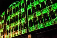 Green architecture (uffy74) Tags: city ireland windows dublin arquitetura architecture night ventana lights town nikon palace finestra janela varanda d80 balces
