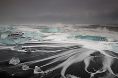 Water Trails on Jokulsarlon Beach, Iceland (Explored!) (sophieatkinson) Tags: iceland icebergs jokulsarlon jkulsrln