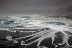 Water Trails on Jokulsarlon Beach, Iceland (Explored!) (Sophie Carr Photography) Tags: iceland icebergs jokulsarlon jökulsárlón