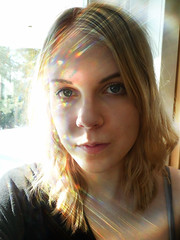 Illuminated (prettylittlelife7) Tags: light sun colors girl sunshine florence spring rainbow blueeyes blonde