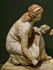 One of Two young women playing knucklebones Greek 330-300 BCE said to be from Capua, Italy (2) (mharrsch) Tags: italy sculpture woman game statue female oregon portland greek ancient 4thcenturybce britishmuseum capua portlandartmuseum bodybeautiful knucklebones mharrsch