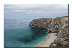 Gooden Heane cove (Simon Bone Photography) Tags: blue sea seascape beach coast sand cornwall shoreline cliffs coastal coastline torquoise beachscape portreath goodenheanecove canoneos5dmkii wwwsimonbonephotographycouk canonef24105mmislf4