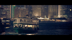 (James Yeung) Tags: sea ferry night hongkong star harbour victoria cinematic