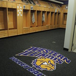 Volleyball locker room new carpet
