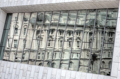 Slices of Edwardian Wedding Cake (Non Paratus) Tags: england uk liverpool merseyside museumofliverpool windows reflections fragmentedreflections architecturalabstract abstract glass theportofliverpoolbuilding merseydocksandharbourboardoffices dockoffice building edwardian 1907 pierhead