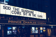 Prince Charles Cinema ({Laura McGregor}) Tags: princecharlescinema leicesterplace westend independent cinema sodthesunshinecomesitinthedark movies film theatre london city urban night neon sign lights fujixpro2 fujifilm vsco