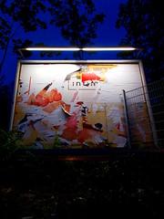 (h.d.lange) Tags: berlin schneberg plakat collage nacht plakatwand neonlicht