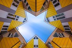Kubuswoningen - Rotterdam (NL) (Cdric Mayence Photography) Tags: kubuswoningen rotterdam architecture holland paysbas netherlands city pietblom longexposure longuepause hdr highdynamicrange maisoncubique maisoncube rotterdamblaak