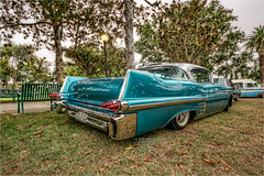 1957 cadillac (pixel fixel) Tags: 1957 cadillac signalhill signalhillpark sultans taillights turquoise