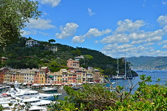 """Portofino"". (Between light and shadow). (giannipaoloziliani) Tags: portofino genova photography giannipaoloziliani luxury privateyacht yacht coast shadows lights view nikond3200 nikon nature clouds mare sea panorama blue sky colors landscape italy"