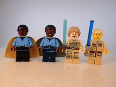 Lando and Cloud City Luke (Alien Hand) Tags: lego star wars luke lando cloud city empire strikes back phoenix custom bricks pcb