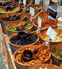 Olives! (ddietz) Tags: food barrel olives london color d300 cooking boroughmarket market