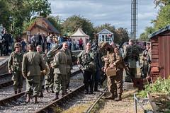 DSC_7395.jpg (john_spreadbury) Tags: ww2 mortar gi homeguard german blacknwhite johnspreadbury reenactment group rifle machinegun stengun cricklade swindon railway troops army english americans uniforms smoke wartime soldiers british