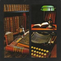FR-750520 (Tweeling17) Tags: aquarupella antique antiquebooks antiquetypwriter feelgood
