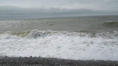 High tide at Biggar Bank (billnbenj) Tags: barrow cumbria walneyisland biggarbank galeforcewind hightide waves surf spray