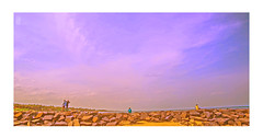 V_70 (v fotographie.) Tags: pondy serenity three point somethimg pondicherry india tamilnadu beaches rock seashore seaside colours