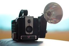 Brownie (Crazyideas95) Tags: brownie camera vintage 50s 1950 retro film blackandwhite chrome flash hawkeye hash kodak