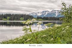 Mehan Lake 2 (imageseekertoo (Wendy Elliott)) Tags: wendyelliottphotographs wendyelliott wendyelliottphotography britishcolumbia britishcolumbiacanada mehanlake mehanlakerestarea stewartcarriarhighway highway37 lake bclake yukontrip snowcappedmountains snowcappedmountainswithlake