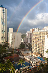 Waikiki rainbow (Lismadom) Tags: 2015 arcenciel hawaii oahu rainbow waikiki