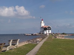 """The horse of Marken"" (-Kj.) Tags: marken lighthouse thehorseofmarken formerisland fishingvillage biketrip noordholland"
