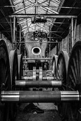 Boiler between wheels (Nigel Gresley) Tags: boiler wheels steam locomotive work