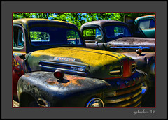 Fade to Yellow (the Gallopping Geezer 3.8 million + views....) Tags: vehicle truck car automobile transportation travel abandoned decay decayed worn faded rust rusty old classic vintage historic history masonmotors mason mi michigan upperpeninsula smalltown backroads rural country canon 5d3 tamron 28300 geezer 2016