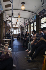Interior of Peter Witt Streetcar (Hawkeye2011) Tags: sanfrancisco usa 2016 california transport people streetcar peterwitt railway vehicle trolley muni