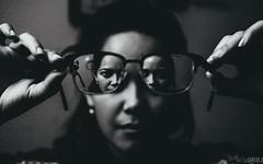 Transpicuous (theafroviking) Tags: fuji fujixpro1 xpro1 xf35 fujixf35 xf35mm fujinonxf35mm fujinon fujinonxf35 35mm bw bnw blackandwhite blackandwhitephotography digital digitalphotography monocrome portrait woman glasses restad kbenhavn danmark copenhagen denmark kbh dk