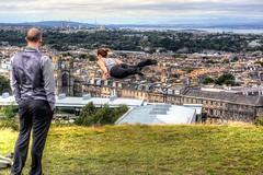 Float On (diminji (Chris)) Tags: people scotland caltonhill clone clonetool hdr hdrtoning edinburgh lovescotland effects photoshop cs5 levitation flying floating