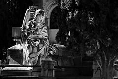 El angel que nos mira II (Egg2704) Tags: escultura esculturas cementerio cementerios panteón panteones arte artefunerario blancoynegro byn bw egg2704