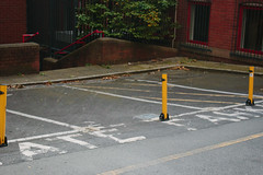 Parking (JacksonSwaby) Tags: park parking car carpark road path pavement paving paint building rail railing steps stairs structure street city wall exterior tree plant