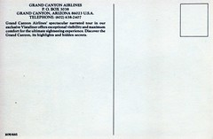 USA_FlyDrive_048 (wallygrom) Tags: usa arizona grandcanyon grandcanyonairlines grandcanyonairways airplane plane flight westcoastflydrive postcard
