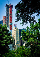 Once the tallest (campra) Tags: park new york city green tower sign skyscraper neon centralpark essexhouse
