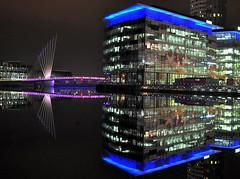 media city salford quays night shot (plot19) Tags: city uk england west water manchester lights nikon media ship north quay salford quays mersey jan4 canel plot19 mygearandme blinkagain