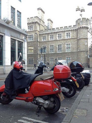 Castle and mopeds