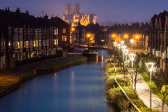 Beverley Beck at Dusk...IMG_7983.jpg (Katybun of Beverley) Tags: uk night dusk barge beverley eastyorkshire beverleyminster beckside beverleybeck syntanbarge