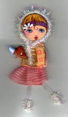 little snow glitter doll001resized (Frilled Daisy) Tags: dolls ornaments handpainted fabris