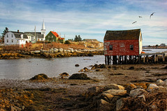 Low Tide at Prospect (sminky_pinky100 (In and Out)) Tags: travel houses sea canada tourism landscape fishing community rocks novascotia coastal inlet lowtide prospect redshack omot cans2s masterclassexhibition imageexcellence masterclasselite thenewmasterclass