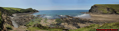 Crackington Haven panorama (Photo Paul) Tags: sea panorama beach coast cornwall cliffs lowtide stitched crackingtonhaven cambeak