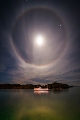 Halo (Richard Larssen) Tags: light sea sky moon seascape water norway landscape coast boat norge long exposure sony norwegen halo ring richard scandinavia slt rogaland egersund eigersund dalane 1018mm larssen emount nex6