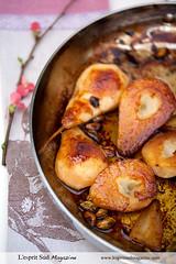 Caramelized pears (Scrumptious Venus) Tags: recipe dessert pears lespritsudmagazine wwwlespritsudmagazinecom
