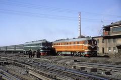DF4B 2304  Changchun  11.03.94 (w. + h. brutzer) Tags: china analog train nikon eisenbahn railway zug trains locomotive changchun cr lokomotive diesellok eisenbahnen df4 df4b dieselloks webru