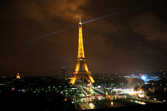Paris at Night (Mauro Lorenzo) Tags: travel light paris france rain night torre tour magic eiffel hour wather tourim