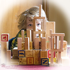 Building blocks (Moments To Hold) Tags: blue boy castle children creativity eyes creative naturallight grandson blocks build buildingblocks childphotography 50mmlens canont2i elementsorganizer11 momentstohold